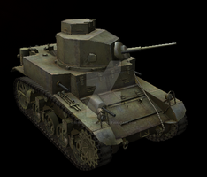 M3 Lend-Leased Light Tank by Hellomon100