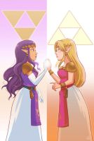 Hilda and Zelda by ladyjenise