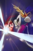 Shoto-Kirby VS Meta-Knight by Robaato
