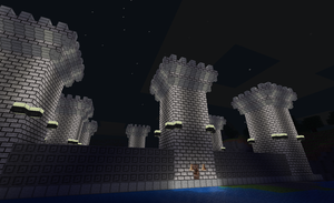 Minetest Castle Courtyard 2 by exarobibliologist
