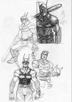 Batman roughs by archvermin