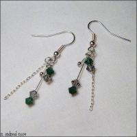 Slytherin House Earrings by bluucircles