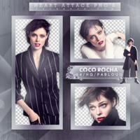 +Coco Rocha|Pack Png by Heart-Attack-Png