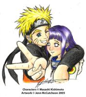 NaruHina - Color pencil by Leafy-chan