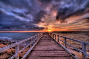 The Pier at Sunrise by DanielleMiner
