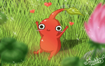 Red Pikmin - Hug me, please by Isi-Daddy
