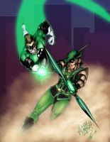Green Lantern Green Arrow by ChrisSummersArt