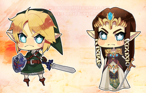 Legend of Zelda keychains by animegirl000
