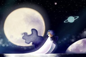 Lune by claire-pouette