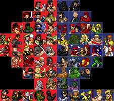 MKvsMarvel Fighter Select by jc013