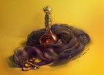 Amber Perfume : Digital Still Life by relsgrotto