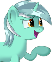 Lyra having a giggle by sykobelle