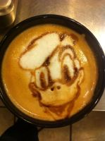 Donald Duck Latte by Coffee-Katie