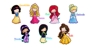 Disney Princesses :3 by elicoronel16