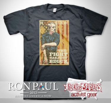 Ron Paul Rolling Up Sleeves Te by Libertymaniacs