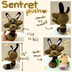 Sentret Pokedoll plush by scilk