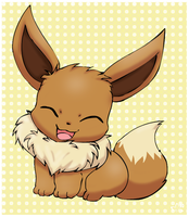 Happy Eevee by pichu90