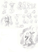 shadow kitty sketch dump by Karry-Bird
