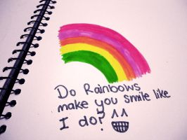 Do rainbows make you smile? by Netti-Chan15draw