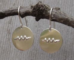 Resistor Sterling Earrings by nicholasandfelice
