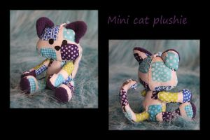 Mini cat plush - Squares by Lophae