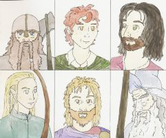 LotR Character Cards by firefliesaway
