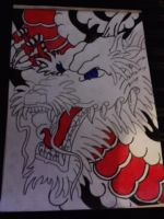 Japanese Dragon design by AdamCareless