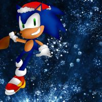 Christmas Sonic gift for solbolt by xXRed-InfernoXx
