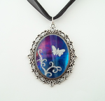 Stained Glass Butterfly Swirls Pedant by HoneyCatJewelry