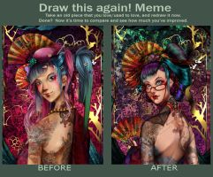 Draw this again meme II by FionaCanajART