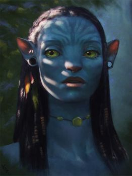 Avatar Fan Art 1 Day #267 by AngelGanev