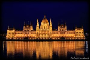 Budapest - Parliament Building by Zamolxes