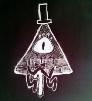 Bill Cipher doodle by DominoBear