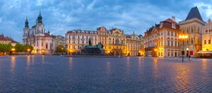 Rainy morning in Prague by mannromann