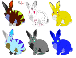 Name-your-price bunny pointables by MadesenTheRaccoon