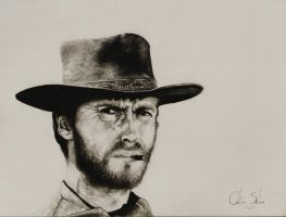 Clint Eastwood by CarolineSalinas