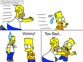 Dodging Minigame with Bart Simpson by PokeGirlRULES