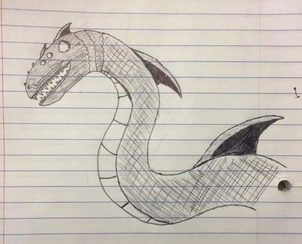 Sea Serpent Sketch by MidnightSprint