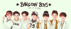 BTS// 1st Anniversary~ Project // by BlueSushiKitty2