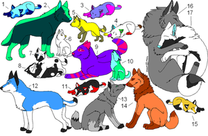 Alot Of Adoptables (OPEN) buy i get one free by calaper