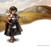 Scarred Lands: Halfling by WillOBrien