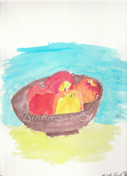 Tomatoes and Apples Watercolor by LisaSparda716