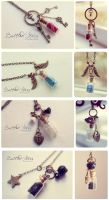 Bottled Stars. Necklace collection 2 by 13thpsyche