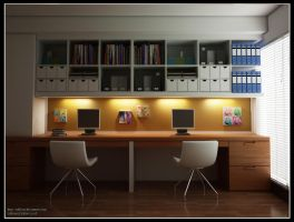 Interior, Study Room by RullyArt
