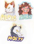 Badges by mashaheart