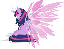 Angelic Wings Twilight Sparkle by OstiChristian
