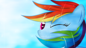 Dashie wink. by Izeer