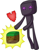 Enderman Chibi by wondering-souls