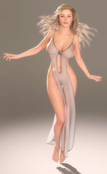 Goddess hovering, IRAY remaster by 3dmania
