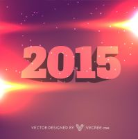 Shiny Happy New Year Free Vector by vecree
